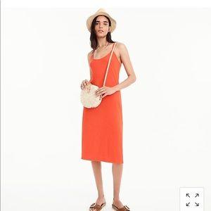 J. Crew strappy knit midi dress Cerise (red/orange